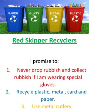 Red Skipper Recyclers Poster